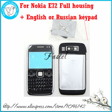 For Nokia E72 New Full Complete Mobile Phone Housing Cover Case + English or Russian Keypad + Tools, Free Shipping