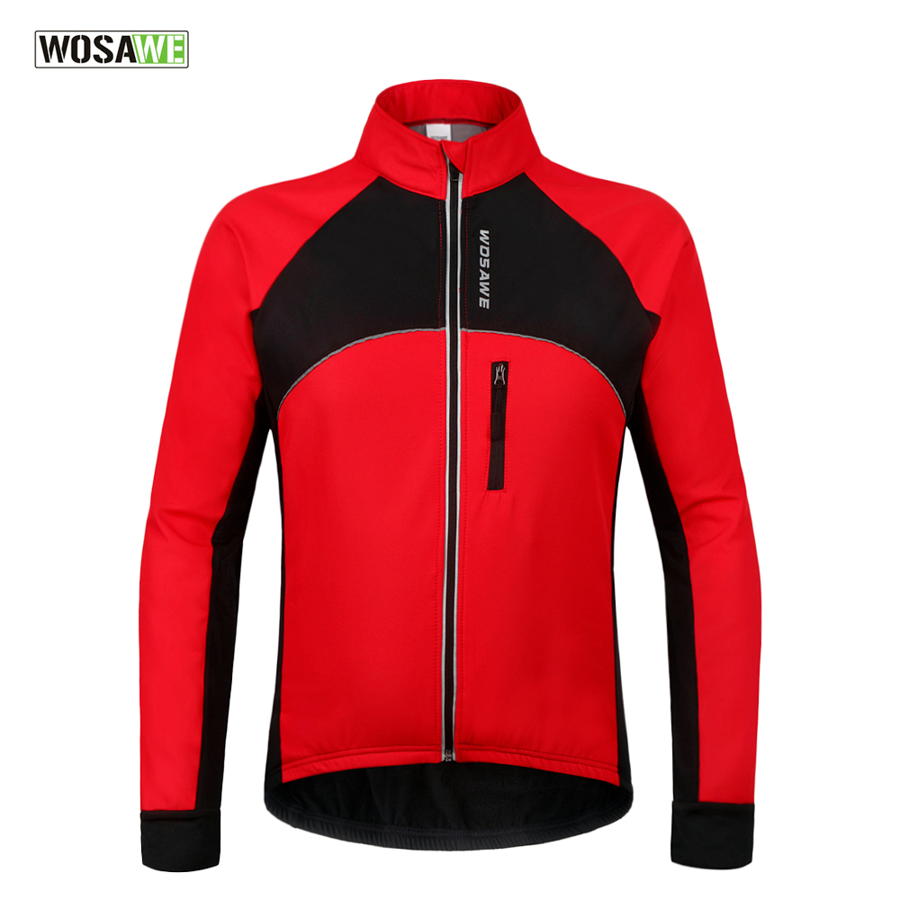 WOSAWE New Thermal Cycling Jackets Winter Warm Up Bicycle Clothing Windproof Waterproof Sports Wear MTB Bike Jersey<br>