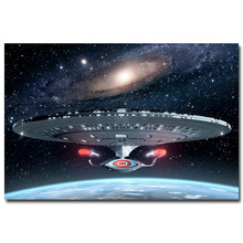 "Art-Story- Star Trek Classic Movie Art Silk Fabric Poster Print Uss Enterprise Travel 12x18 20x30 24x36"" 005"