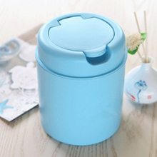 Creative Mini Flip Trash Can Desktop Storage Barrels Rubbish Bin