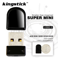 Kingstick mini Pen Drive small USB Flash Drive 128GB 64GB 32GB pendrive 16GB 8GB 4GB memory Flash USB Stick pen driver gift(China)