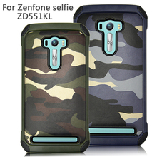 For Asus ZenFone 2 Selfie ZD551KL CASE Soldier Camouflage Pattern PC+TPU Silicone Soft Cover For  ZenFone 2 Selfie Phone Cases