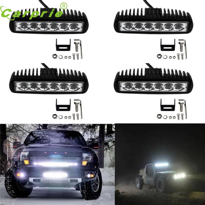 New Arrival 4pcs New 18W Flood LED Light Work Bar Lamp Driving Fog Offroad SUV 4WD Car Boat Truck or27<br><br>Aliexpress