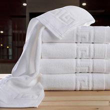 3-Pieces Embroidered Crown White Hotel Towels 600g Cotton Towel Set Face  Bath Towel For Adults Washcloths Set Towels