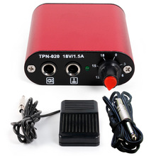 Solong tattoo Mini tattoo power supply + Foot Pedal + Clip Cord for machine gun kit black Color P162-2 Red(China)
