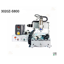 Cheap price mini cnc milling machine 3020 router desktop wood engraver 800w with Mach3 software