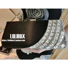 Women Bag Custom New Satin Diamond Super Flash Of Crossbody Bags For Women Ladies Hand Bags Evening Clutch Bags Bridal Gowns(China)