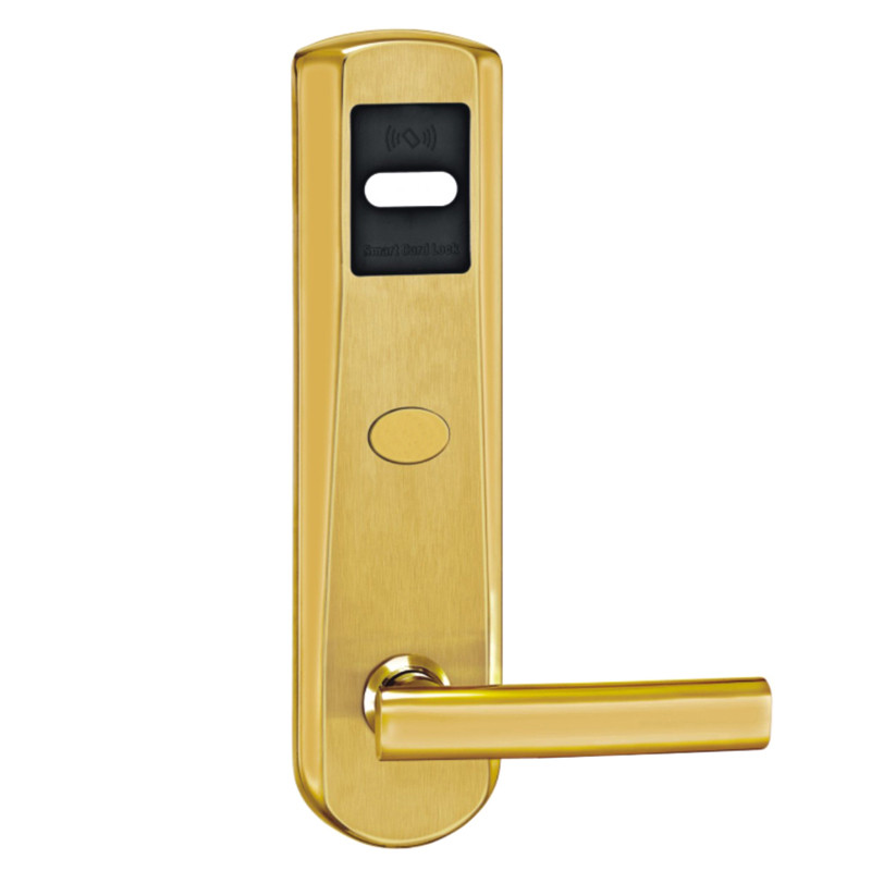 Card Hotel Door Lock Digital Smart Electronic RFID Card For Office Apartment Home L&amp;S 5 Latches Mortise Gold SL16-018BG-3<br><br>Aliexpress