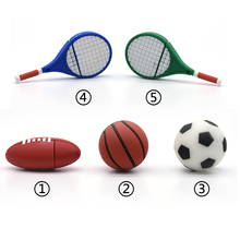 cartoon football basketball tennis racket rugby usb flash drive 4g 8g 16g 32g 64g sports ball pendrive storage device Pen drive(China)