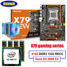 All tested New HUANAN deluxe X79 LGA2011 motherboard CPU RAM combos Xeon E5 2690 C2 with cooler RAM 16G(4*4G) DDR3 1333MHz RECC(China)