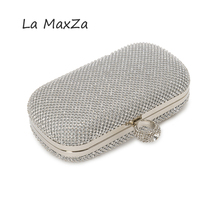 Women handbag famous designer high quality luxury clutch crystal diamonds finger ring ladies evening bags wedding gift party bag