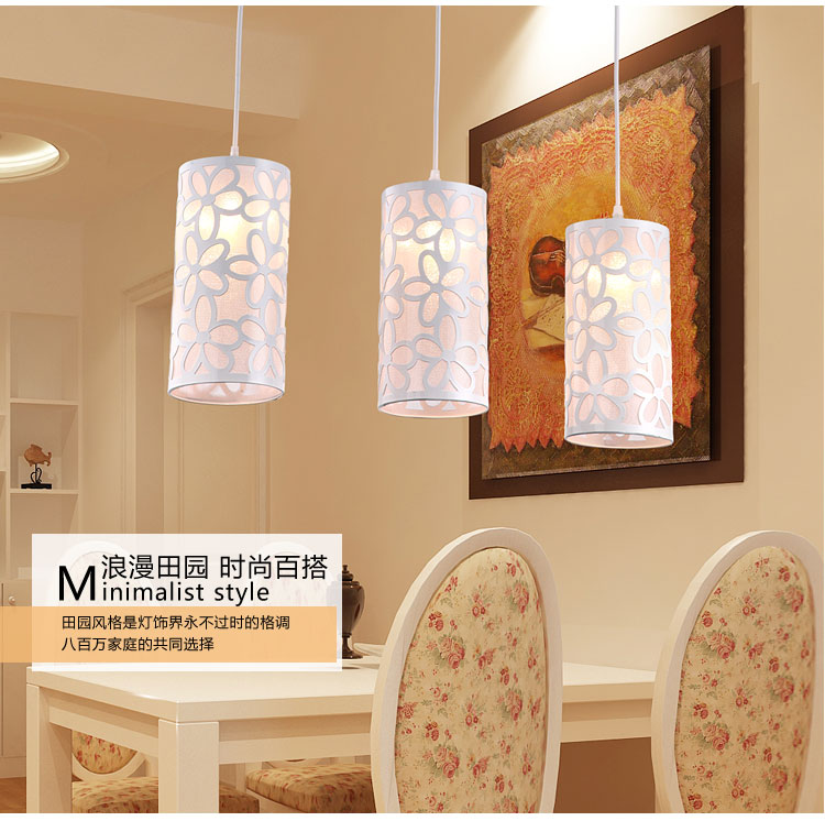 Pastoral style simple three head led restaurant pendant creative lamps<br>