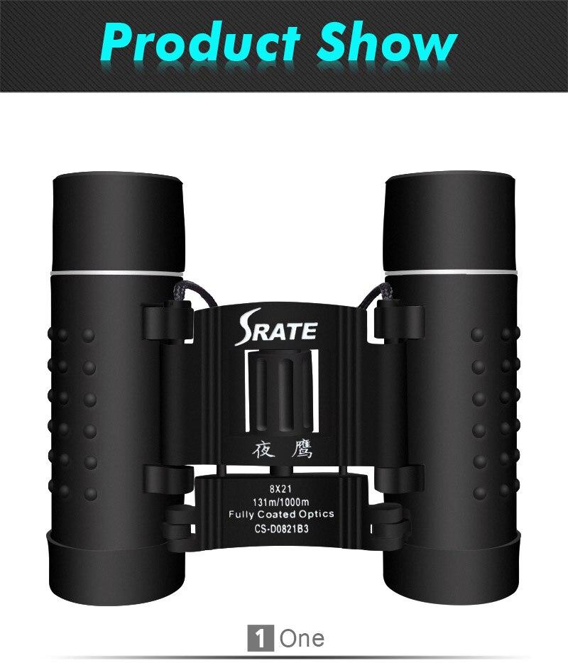 8x21 Mm High Power Pocket Compact Outdoor Binoculars Professional Optical Camping Hiking Telescope Scope