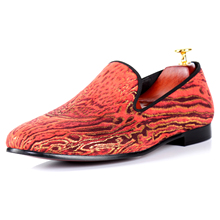 Harpelunde Flat Shoes Leopard Print Red Casual Shoes Brand Men Footwear Free Drop Shipping Size 7-14(China)