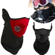 Unisex Windproof Warm Harf Face Mask Winter Snowboard Ski Mask Ride Bike Motorcycle Cap Neoprene Neck Warm CS Mask For Men Women(China)