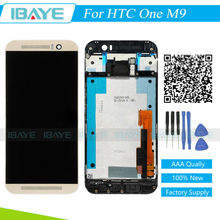 Complete Screen For HTC One M9 Display LCD Display Touch Screen Digitizer With Frame Assembly Replacement For M9 Display Gold