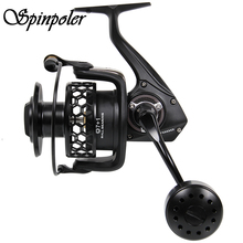 Super Power 20KG Unloading Force Spinning Reel 7000 Series For Surf Trolling Jigging Saltwater Fishing Speed Ratio 4.9:1 Wheels