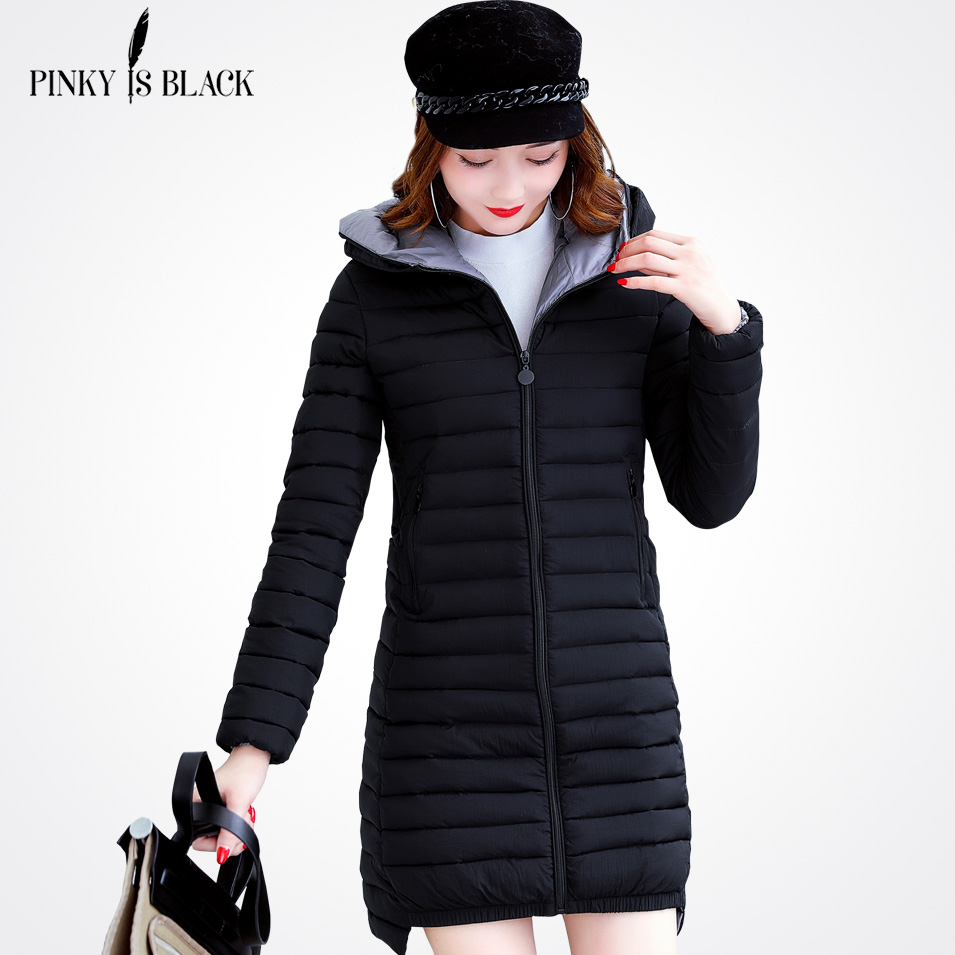 Pinky Is Black 2017 New spring jacket women winter coat plus size 4XL women warm outwear padded cotton jacket coat clothingÎäåæäà è àêñåññóàðû<br><br>