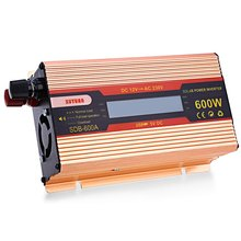 600W Solar Power Inverter Car Automotive Power Converter DC 12V to AC 230V Aluminum Alloy Case LED Display DC and AC Voltage