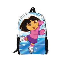 "16"" cute dora backpack bag school for a girl Girls Kindergarten The Explorer Children School Bag Cartoon adventurous dora(China)"