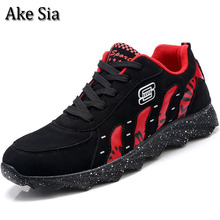 Ake Sia Newest Arrive Men Spring Autumn Fashion Trend Casual Breathable Comfortable Jogging Sneakers Male Hombre Flat Shoes F034(China)