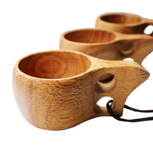 Japanese Nature Solid Wood Survival Bushcraft Handmade Camping-Wooden Cup Scandinavian Curly Mug Tea Coffee Milk Cups