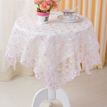 Polyester Table Cloth Moden Pink Orange Lace Floral Tablecloth Christmas Manteles Para Mesa Nappe Bugaboo Table Cover Navidad(China)