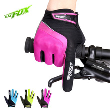 Buy BATFOX Men's Cycling Gloves Women Full Finger Bike Bicycle MTB Gloves Gel Padded Breathable Mittens Glove guantes ciclismo for $10.39 in AliExpress store