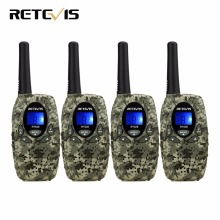 4pcs Retevis RT628 Mini Kids Radio Walkie Talkie Children 0.5W VOX PTT LCD PMR Frequency Portable Ham Radio Hf Transceiver