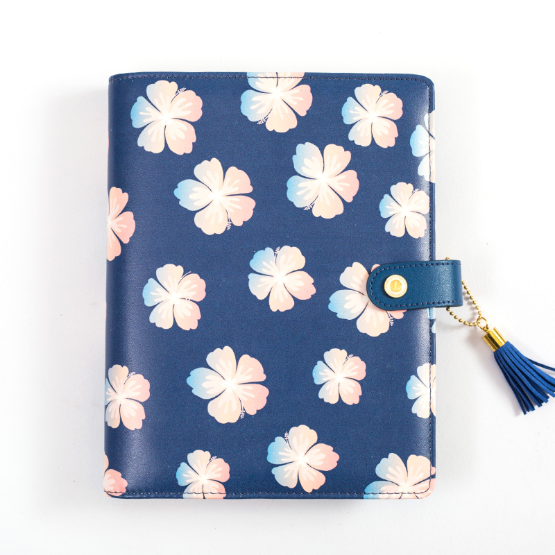 Lovedoki Be Beautiful Like Summer Flowers Spiral Notebook Leather Cover Diary Planner A5 Notebooks And Journals Stationery Store<br>