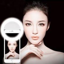 Self Artifact LED Ring Flash Fill Night Flash Light Clip Photo Camera For Cell Phone Smartphone Self-timer Beauty Light(China)