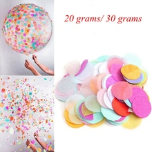 (20g/30g) Metallic Gold/Silver Tissue Circle Confetti DIY Colorful Wedding Birthday Baby Shower Christmas Party Table Decor
