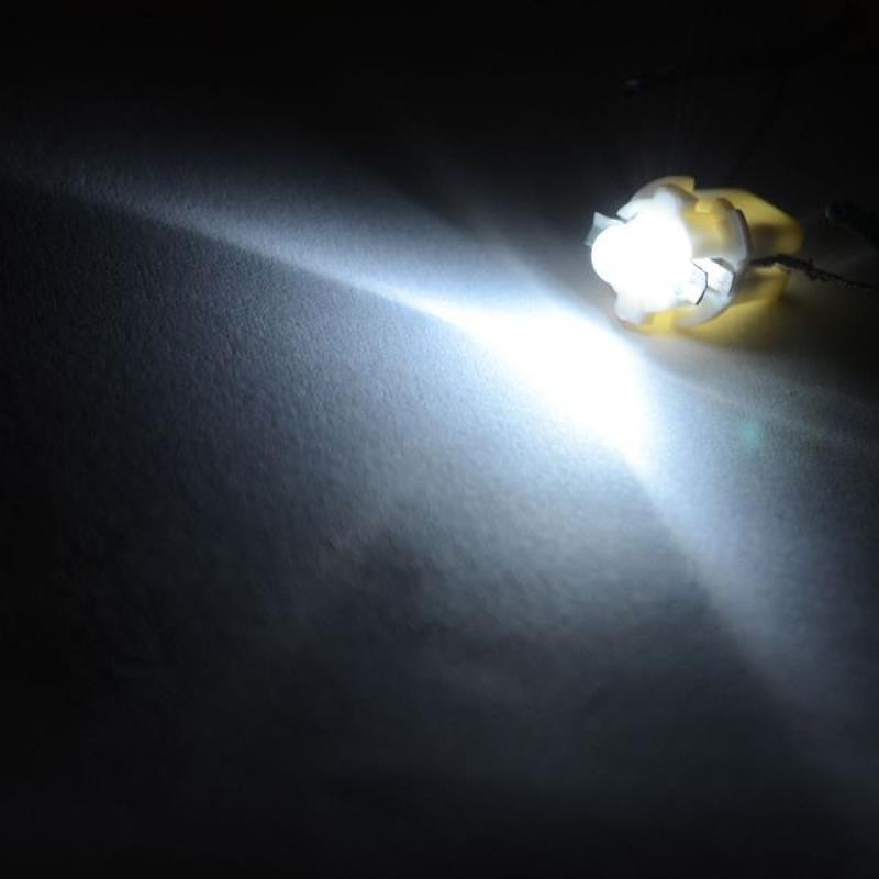 10PCS T5 B8.5D 1SMD LED Car Interior Dome Dashboard Panel Side Light Bulb Auto Indicator White Lamp DC 12V