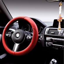 A&P Racing Steering Wheel Cover set microfiber Leather Covers red 38cm Universal For BMW Honda Audi Ford Toyota hyundai