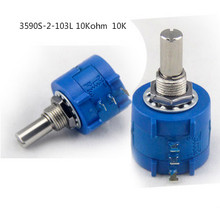 2pcs  New    Precision multi circle potentiometer  3590S-2-103L 10Kohm  10K Specially designed for power amplifiers