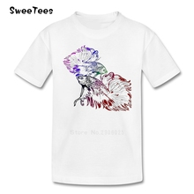 Bettas Boys Girls T Shirt 100% Cotton Short Sleeve Round Neck Tshirt Children Clothes 2017 Custom Made T-shirt For Kids