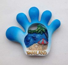 Thailand Finger Creative 3D Fridge Magnets World Tourism Souvenirs Collection Refrigerator Magnetic Stickers Home Decoration