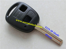 Top quality remote key shell for Lexus 2 button, blank key case for Lexus with TOY48 Blade