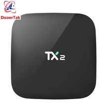 Android 6.0 Smart TV BOX TX2 R2 2GB 16GB EMMC Rockchip RK3229 Quad Core H.265 4K 60tps 2.4GHz WiFi BT2.1 Media Player IPTV Box