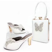 Latest White Color Italy Shoe and Bag Set 2017 Italian Shoes with Matching Bag High Quality African Wedding Shoes and Bag Sets