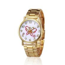 ladies watches Butterfly pattern Crystal Stainless Steel Analog Quartz Wrist Watch watches for women relogios feminino