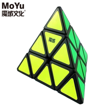 Original MoYu Triangle Pyramid Pyraminx Magic Cube Speed Puzzle Twist Cubes Educational Toys For Children Kids cubo magico Gifts(China)