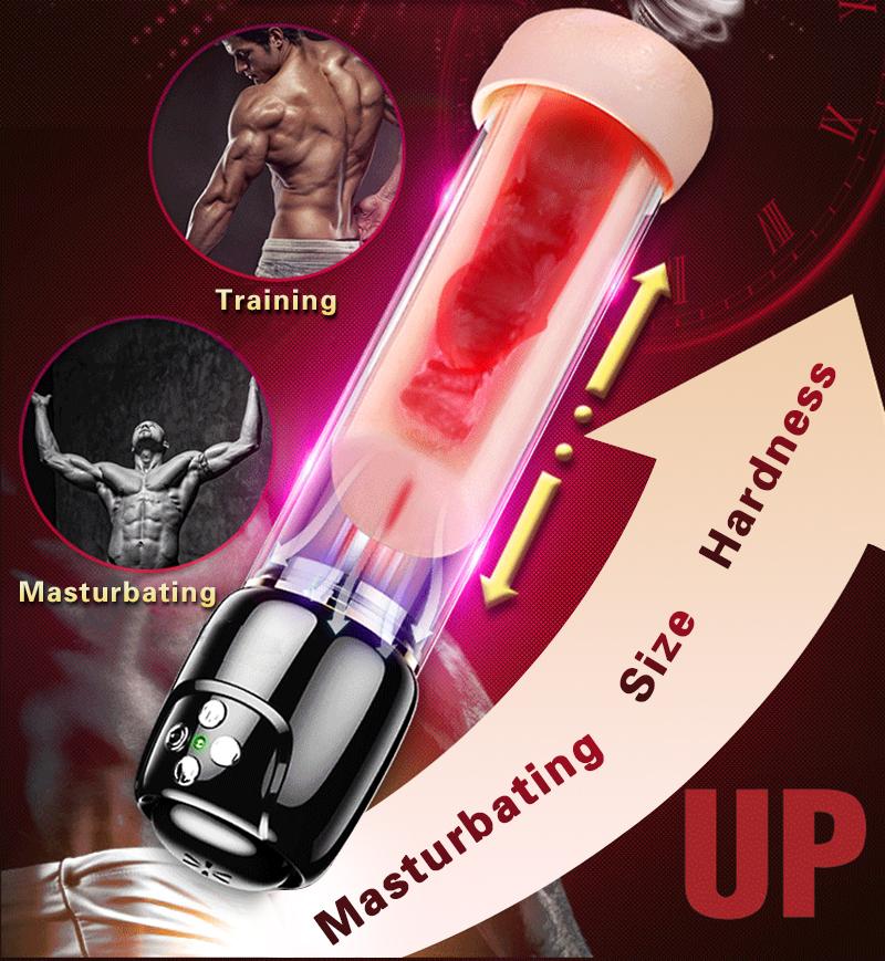 Penis Pump Vacuum Vibrator Penis Enlargement Extender Sex Toys for Men Real Vagina Masturbation Adult Toys for Man Sex Shop 2