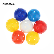 Kofull 50pcs/bag size 40mm Plastic Airflow Golf Balls Pickleballs Balle de Golf Golf Pelotas Colorful Golf Ballen Balls