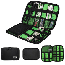 Portable Nylon Waterproof Storage Organizer Bag Shockproof Earphone Digital USB Cable Sorting Travel Insert Bags