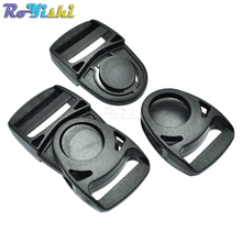 "10pcs/pack 1""(25mm)Side Release Center Swing Head Swivel style Plastic Buckles(China)"