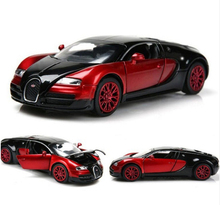 1:32 Scale Bugatti Veyron Alloy Diecast Car Model Pull Back Toy Cars Electronic Car With Flashing Kids Toys Gift Free Shipping(China)