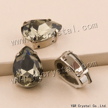 4320 Drop 7x10 10x14 13x18 18x25 mm Black Diamond Sewing Crystal Stones Fancy Rhinestones Claw Setting Stones For Wedding Dress