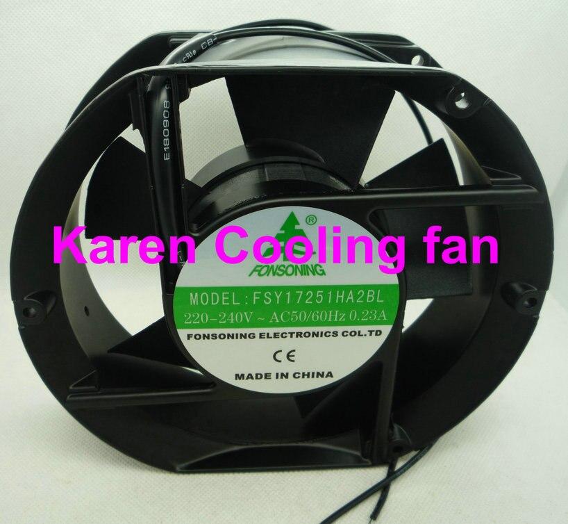 FONSONING 17CM FSY17251HA2BL 17251 220V-240V ac50/60Hz 0.23a cooling fan FSY17251HA2SL P3175HBL-ETS 6C-230HBC UF15PC23<br>