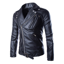 Buy Motorcycle Leather Jackets Mens Classic Vintage Retro Motocle Jacket Turn Collar Slim Faux Leather Biker Jacket Size M-5XL for $45.50 in AliExpress store